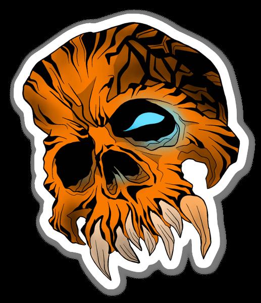 Tiger Style Skull sticker