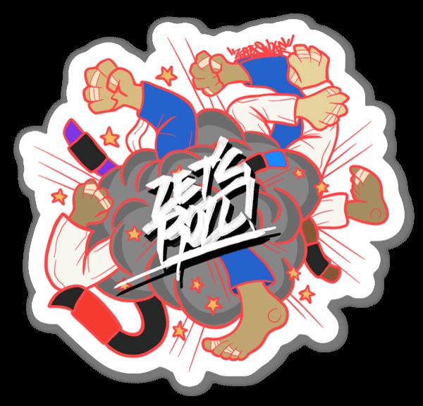 BJJ Let's Roll!  sticker