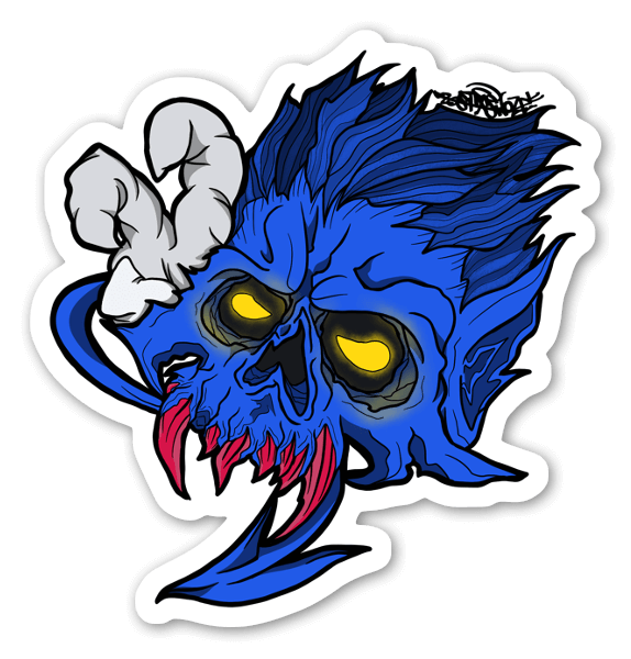 Nightcrawler Skull sticker