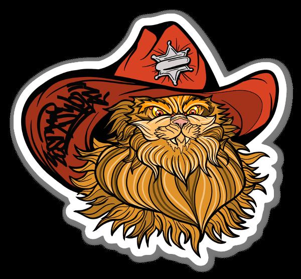 Meowdy Texan Cat 2.0 sticker