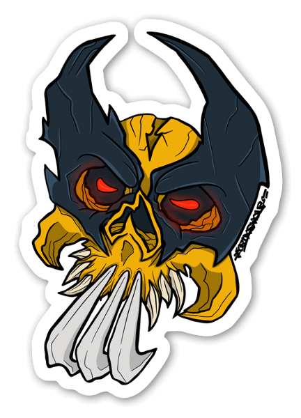 Wolverine Skull sticker