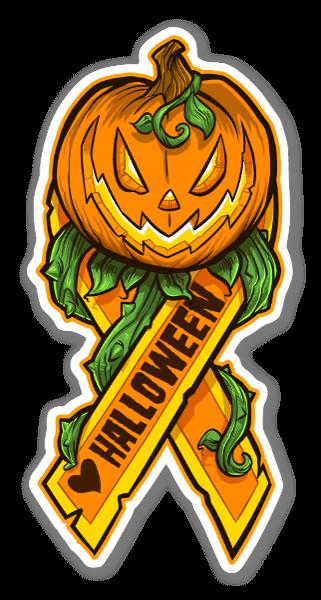 Jeg elsker halloween sticker