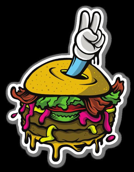 Peace Burger sticker
