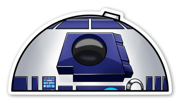 R2-D2の覗き見 ステッカー