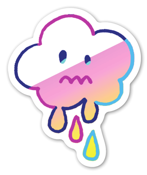 Dripping Cloud sticker