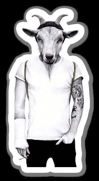 ヒップスターのヤギ  ステッカー