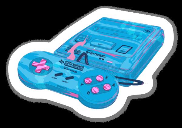 Super Famicom Machine sticker