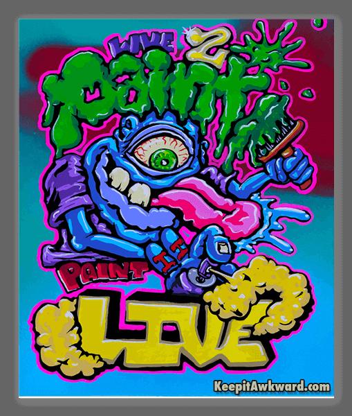 Live 2 Paint Paint to Live sticker