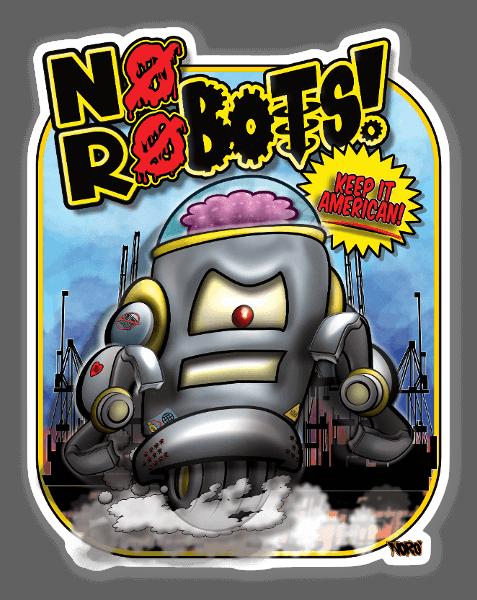 NoRobot$ sticker