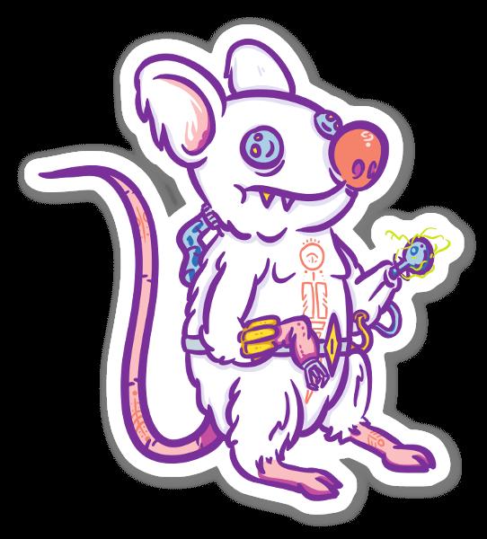 サイバーパンクマウス ステッカー