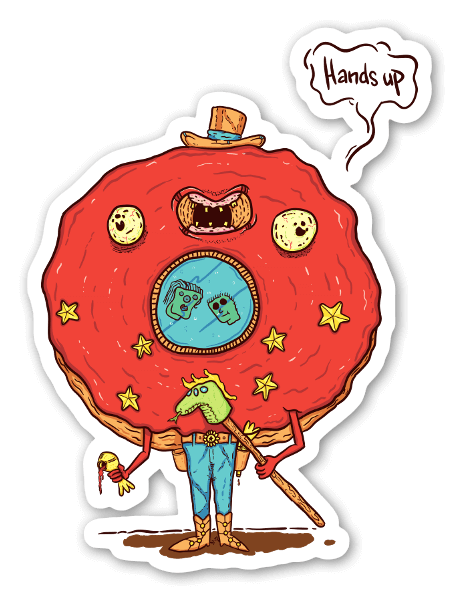 Donut Sheriff sticker