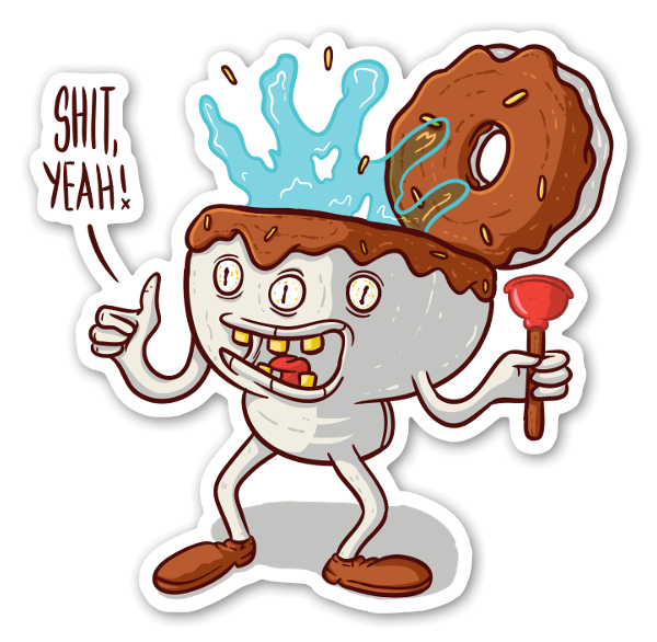 Shitnut sticker