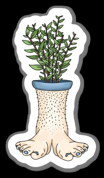 植木足。 ステッカー