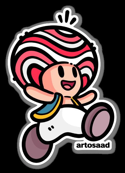 Happy Toad sticker