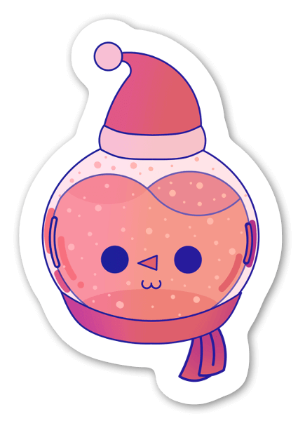 Lumiukko tarra