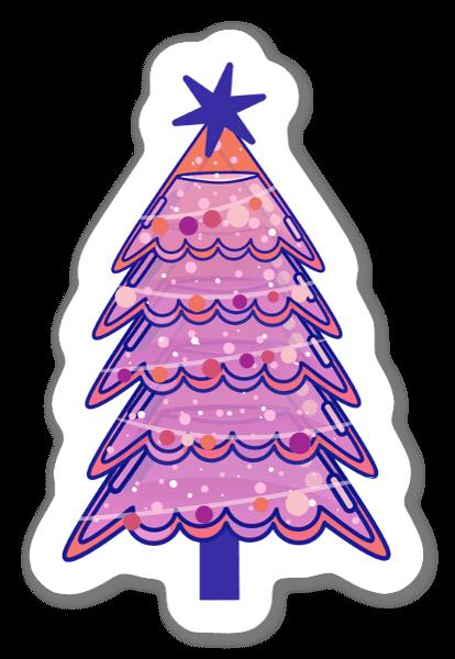クリスマスツリーのライトアップ ステッカー
