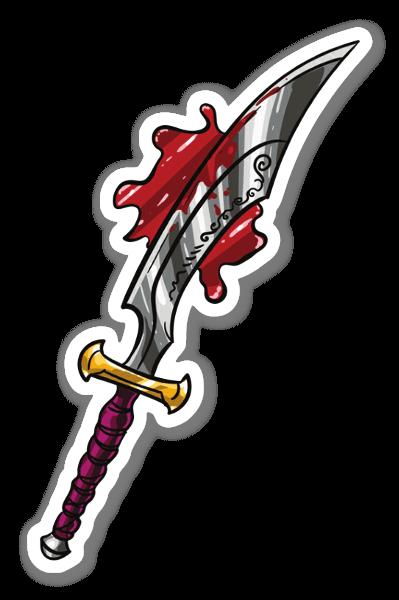 Verinen miekka tarra