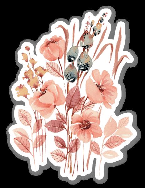 Florecillas pegatina