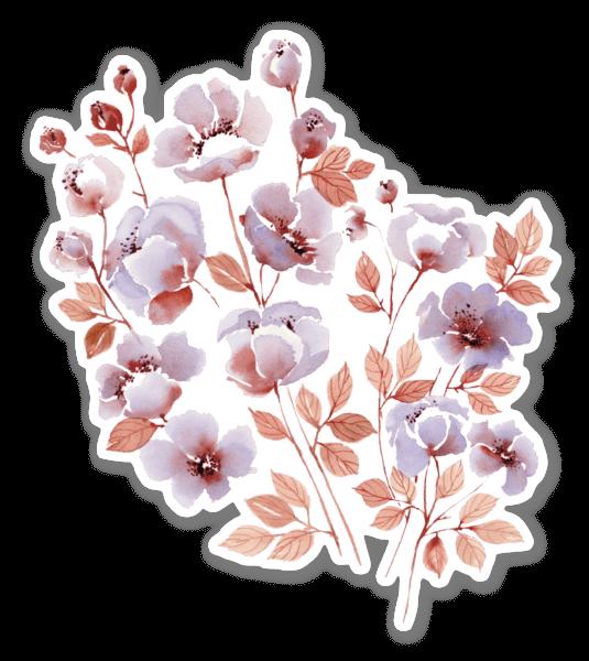 Romantiska Blommor sticker