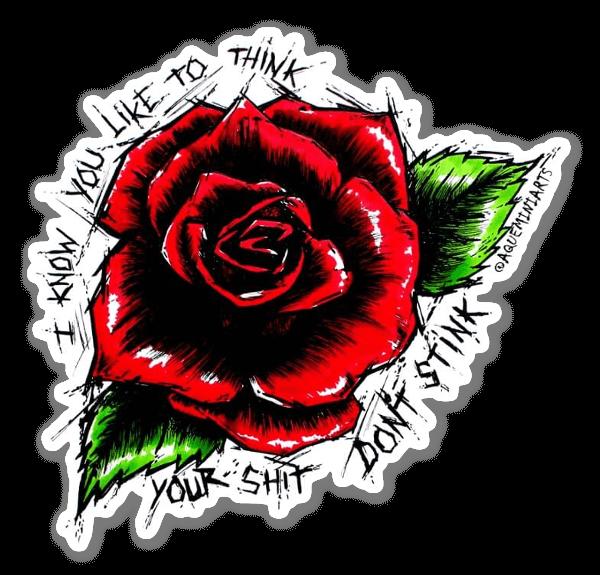 Roses Stank sticker