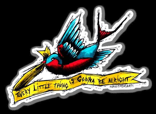 Liten Fågel sticker