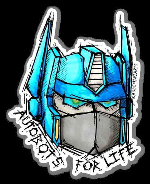 Autobots For Life sticker