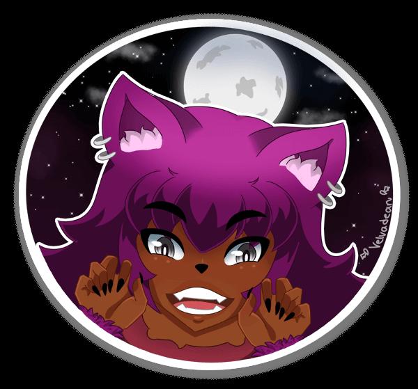Werewolf Momo sticker