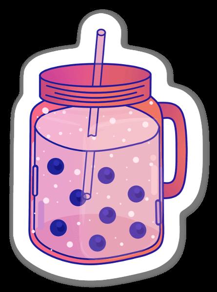 Rosa Bubbelte sticker