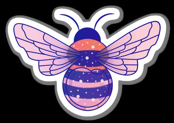 Lila Bi sticker