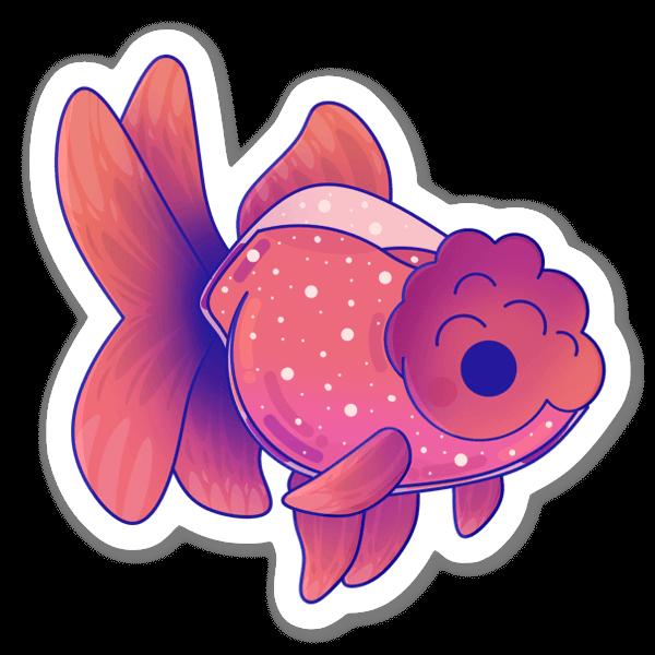 Pinkki kultakala tarra