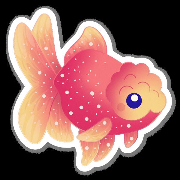 春節の金魚 ステッカー