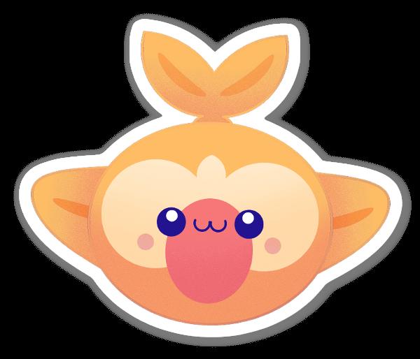 Oranget Vattendjur sticker