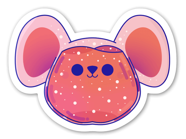 ネズミ ステッカー