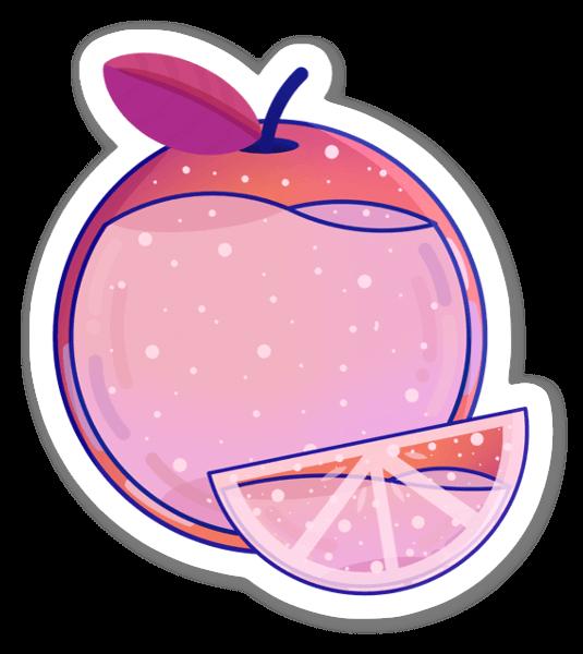 Skivad Apelsin sticker