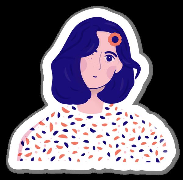 Prickigblus sticker