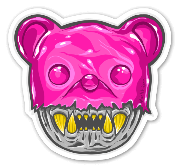 Rosa Gummi sticker