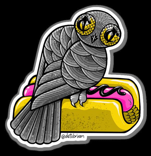 Korv med Fågel sticker