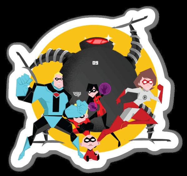 Incredibles 1  sticker