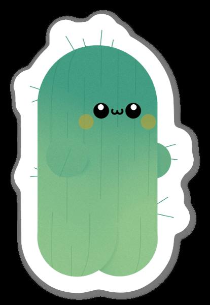 Gullig Kaktus sticker