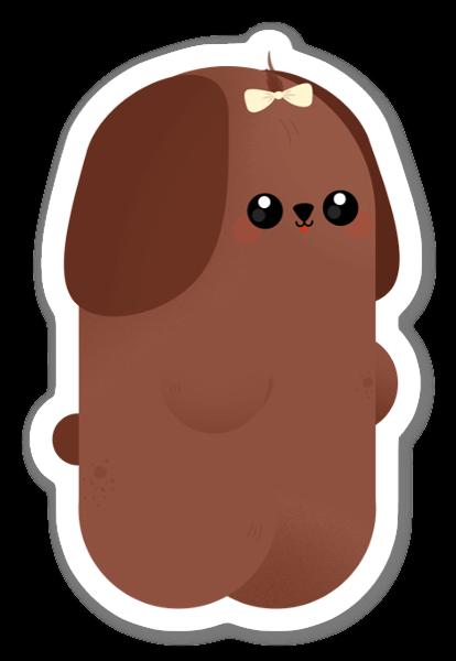 Brun Mops sticker