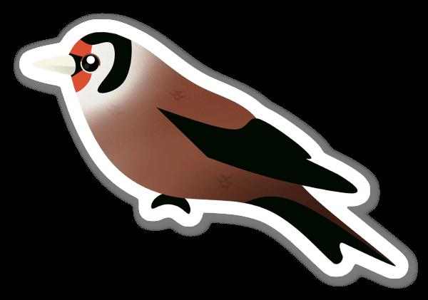 Brun Fågel sticker