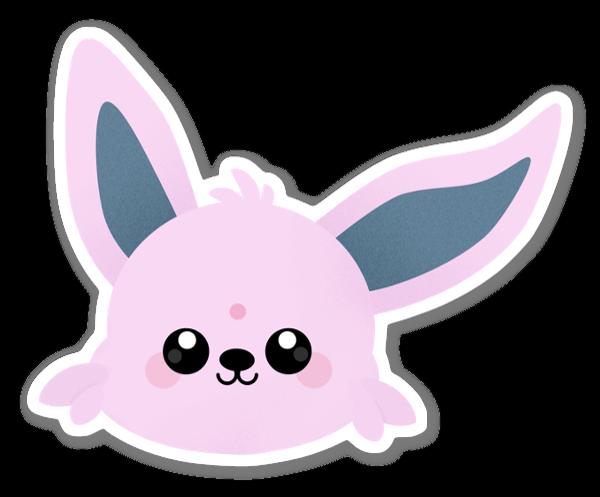 Ljusrosa Kanin sticker