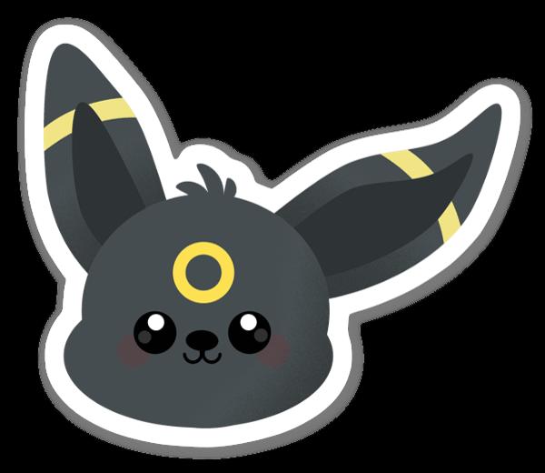 Svart Kanin sticker