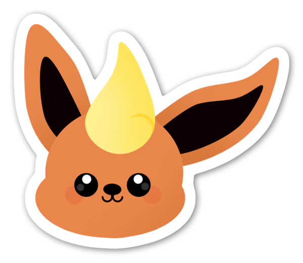 Orange Kanin sticker
