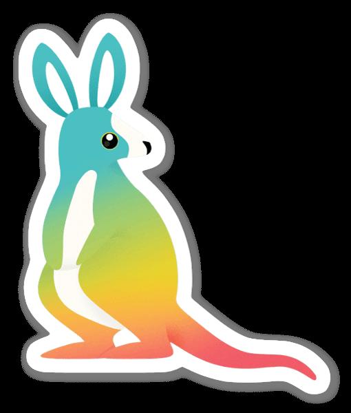 Värikäs kenguru tarra