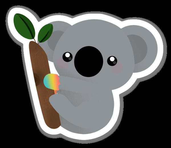 Grå Koala sticker