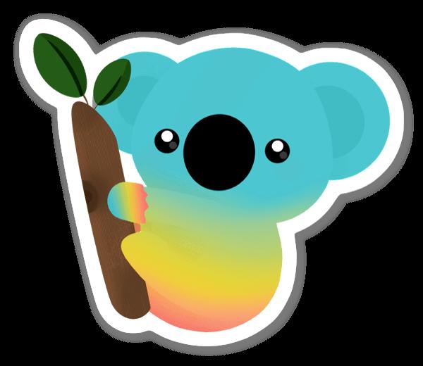 Värikäs koala tarra