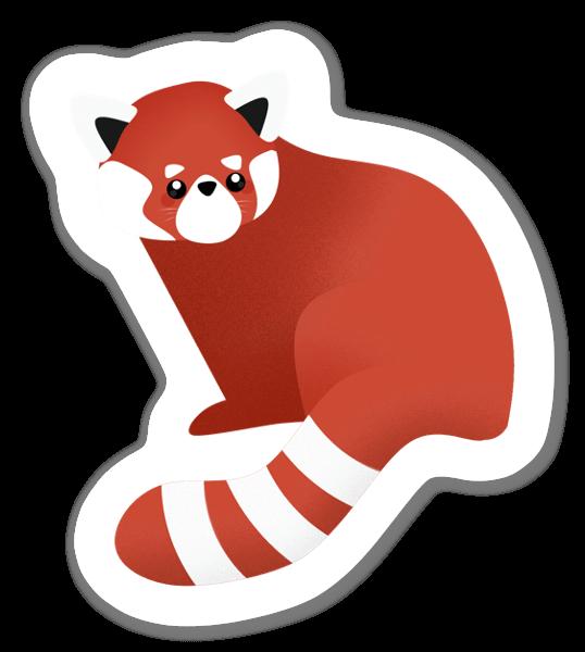 Curious Red Panda sticker