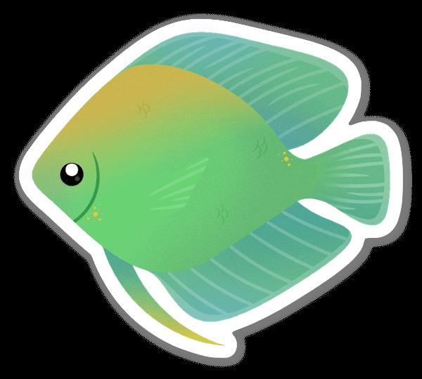 Vihreä kala tarra