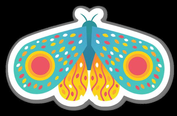 Sininen perhonen tarra